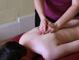 Deep Tissue Massage: re-enforced hands.