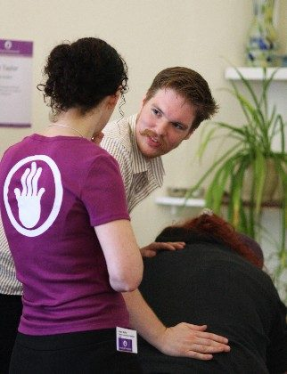 Student Stories: Toby giving Indian Head Massage with tutor support.