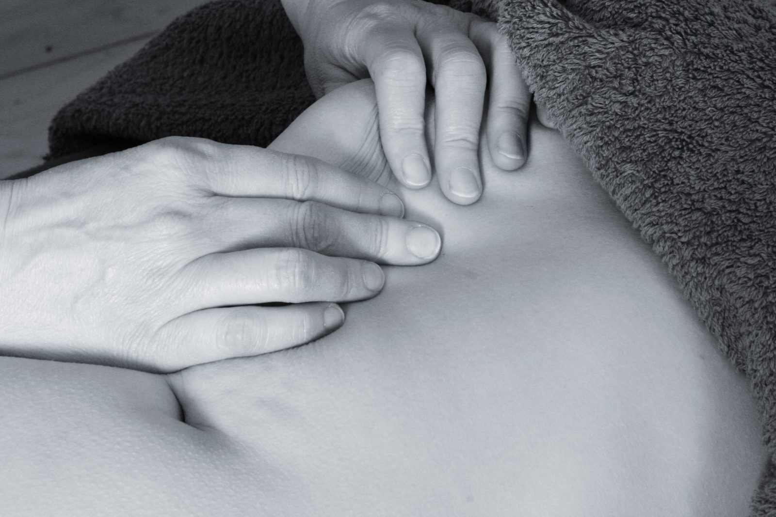Scar Tissue Release: Work around ribs.